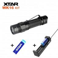 Kit Mini lampe torche EDC rechargeable 550 lumens Xtar WK16 + Chargeur + Batterie