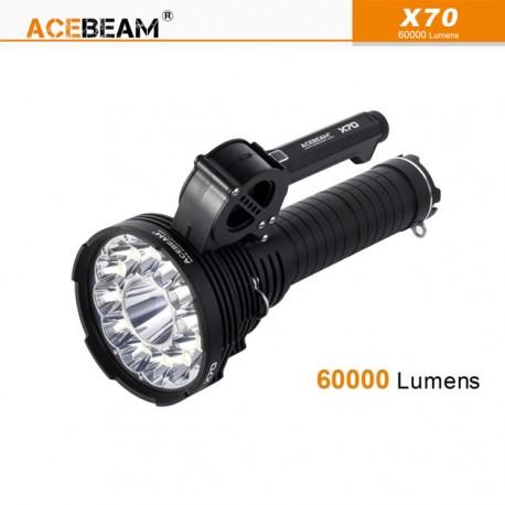 ACEBEAM X70 Lampe torche rechargeable surpuissante 60000 lumens
