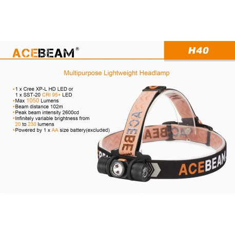 Acebeam H40 Cree XP-L HD 1050 Lumens