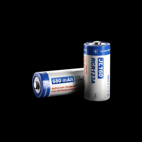 Batterie Li-ion RCR123A Niteye Jetbeam 680mAh rechargeable