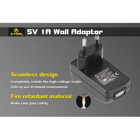Adaptateur USB secteur 220V pour chargeur Xtar MC2