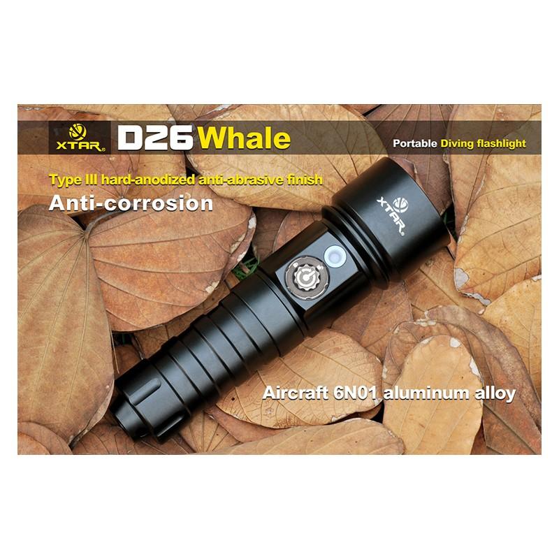 De Plongée D26 Lumens 1100 Lampe Ultra Whale Xtar Puissante srdothxBQC