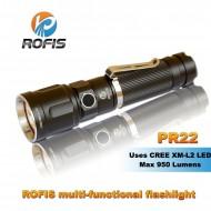 Lampe torche puissante Rofis PR22 - 950 lumens